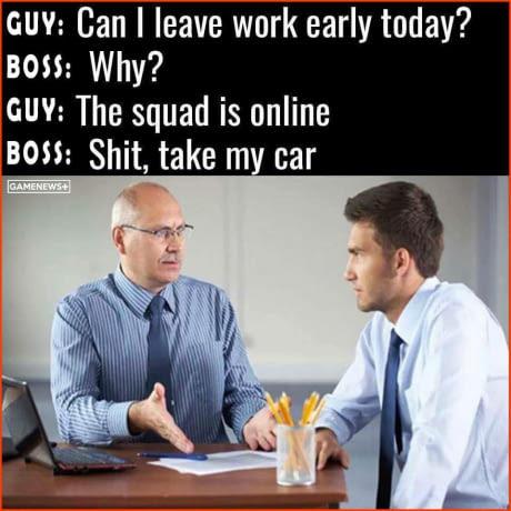 Good worker, better gamer - meme