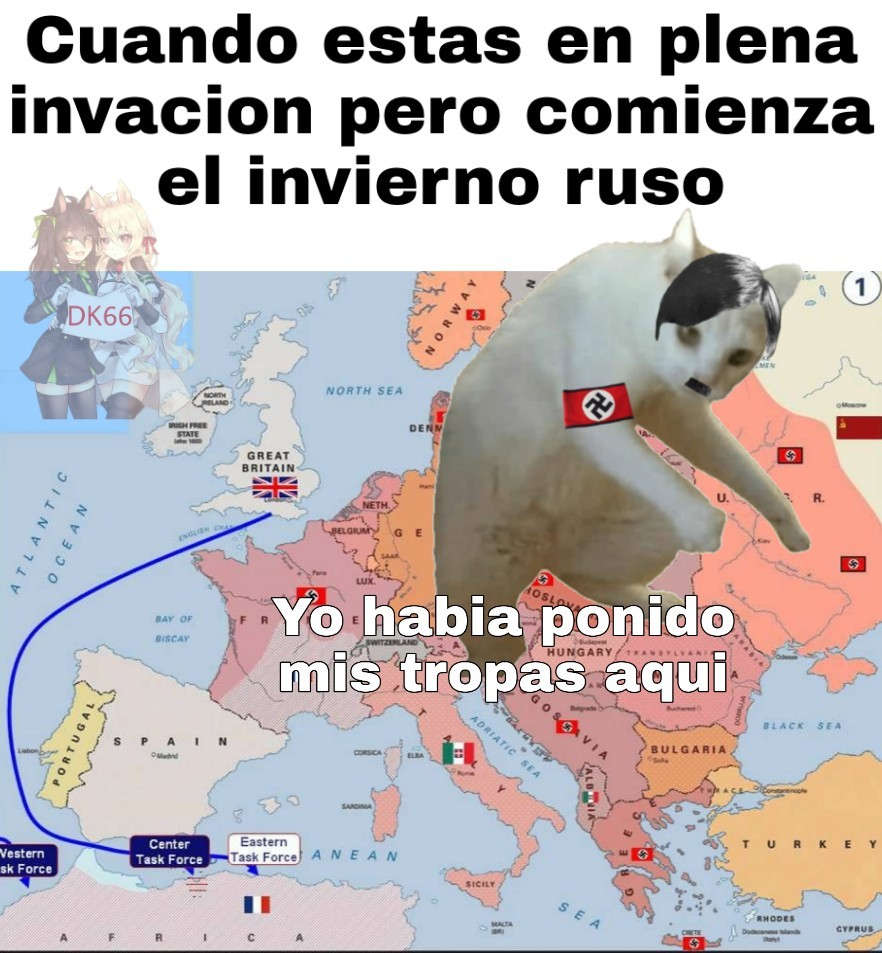Este Hitler perdiendo sus tropas - meme