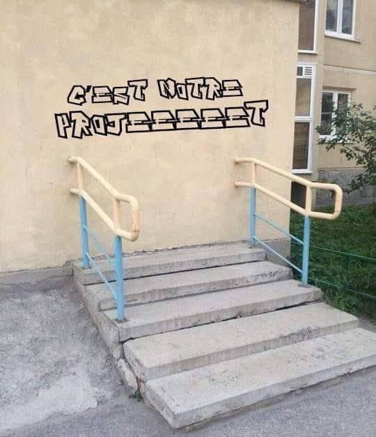 Droit dans le mur - meme