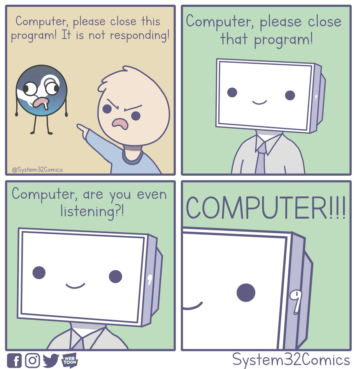 Computer is not responding [OC] - meme