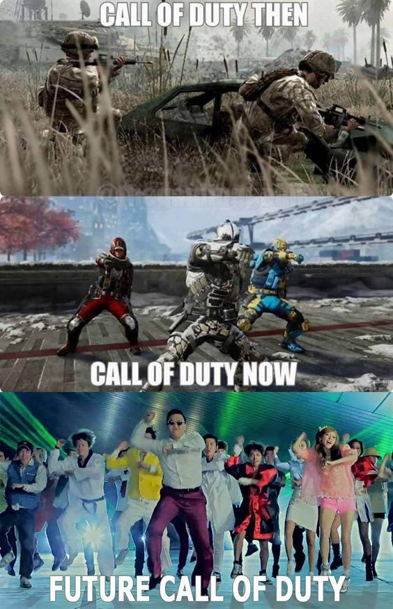Evolution of COD - meme