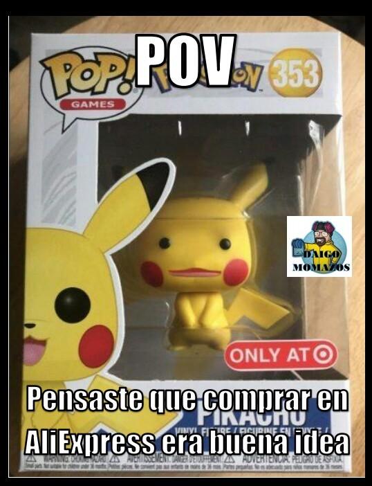 Pikachu fue testigo de la piratería de Aliexpress - meme