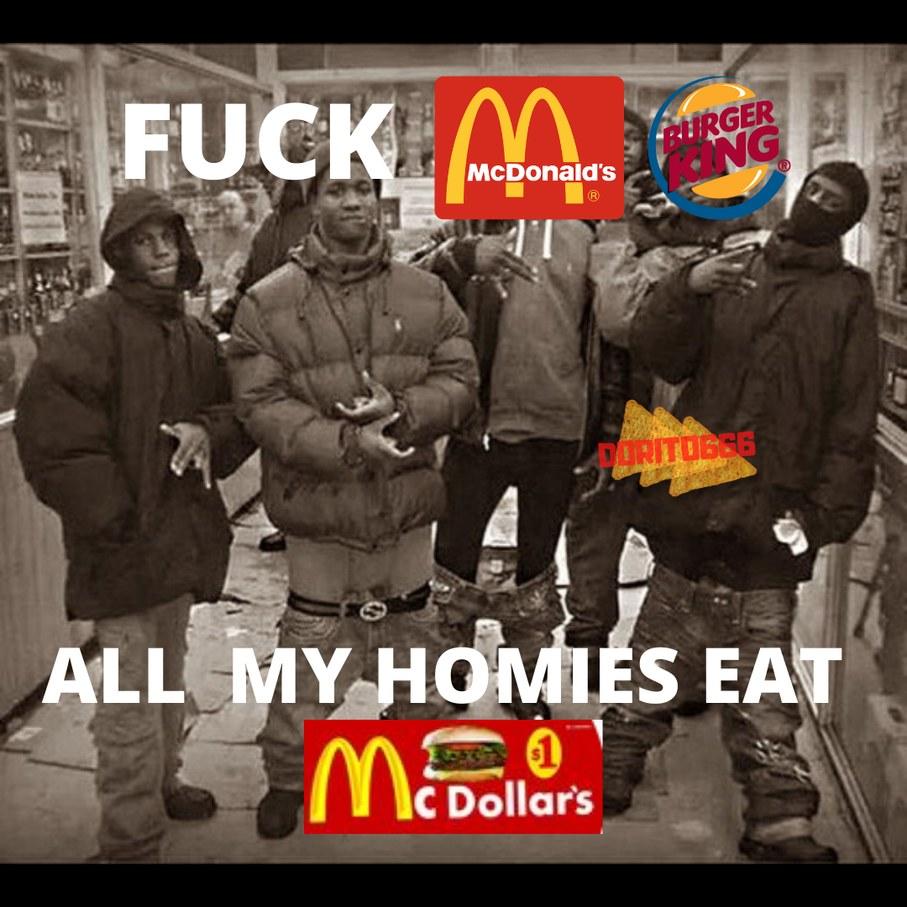 McDonalds y Burger King < McDollars (Que este no es original de Mcdonalds y nunca e visitado ahi y nunca lo hare! Solo vi esa cosa en ciudades monaguenses osea la capital de venezuela - meme