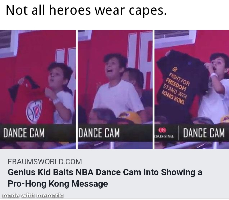 Give that kid a medal. Fight for freedom. Stand with Hong Kong - meme
