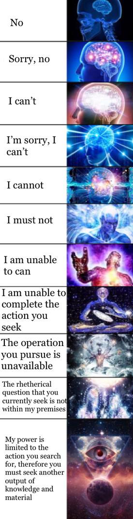 How to say no - meme