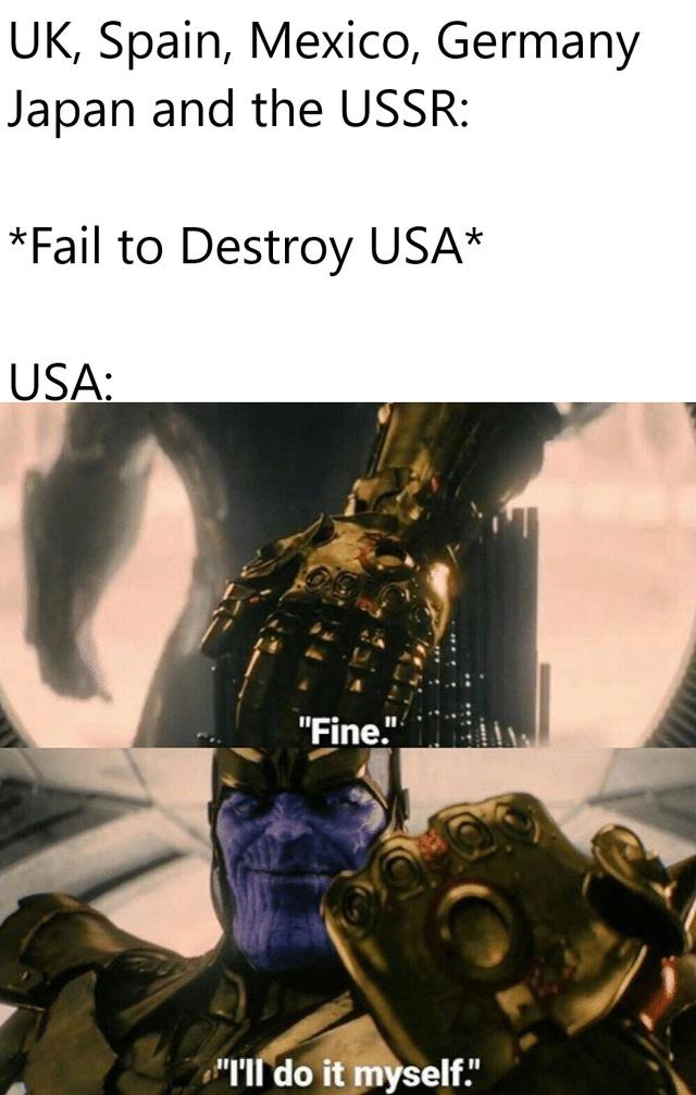 USA destroying itself - meme