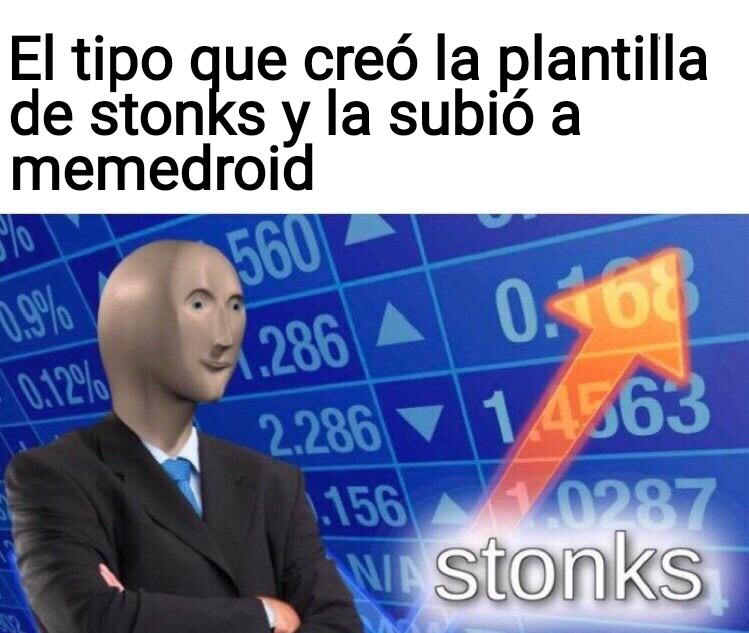 Stonks doble - meme