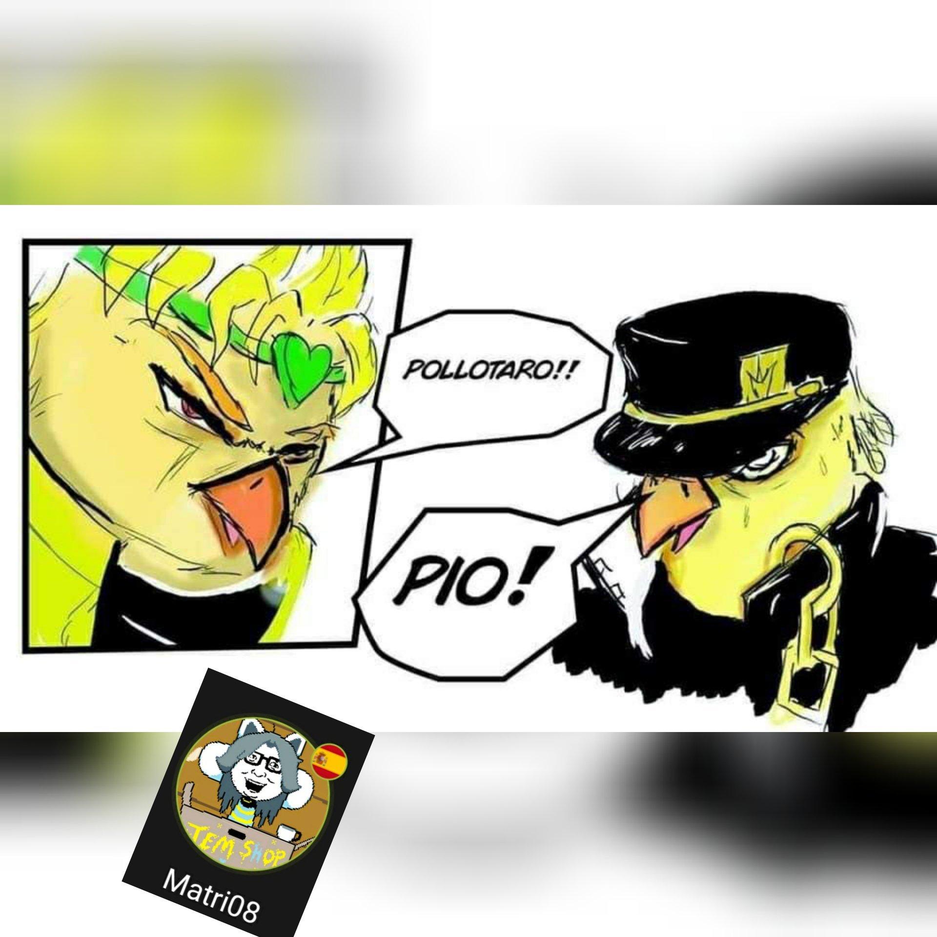 Jojo's pollito adventure - meme