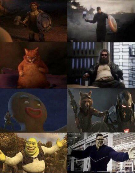 SCU Shrek Cinematographic Universe - meme