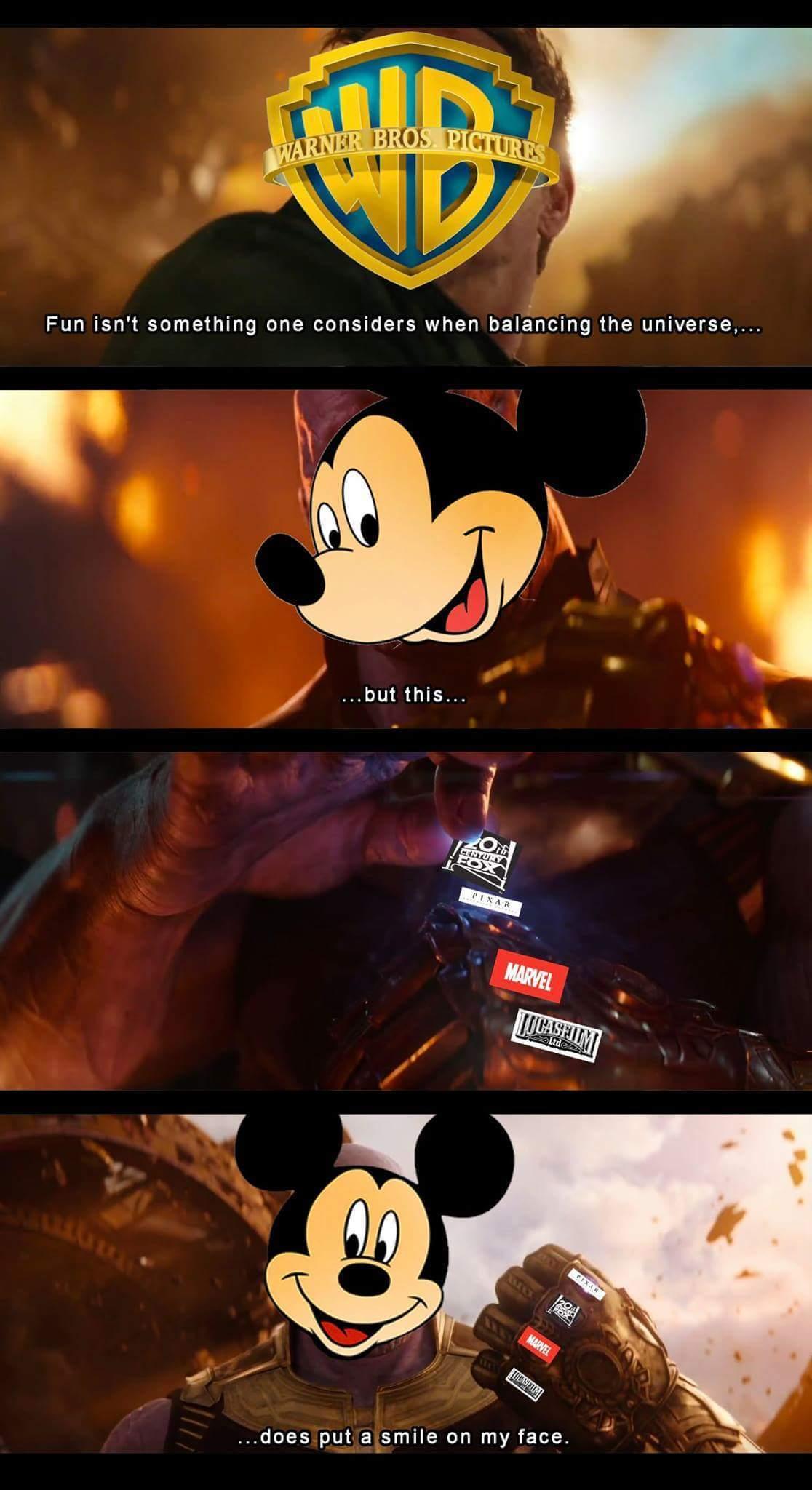New world order by Disney - meme