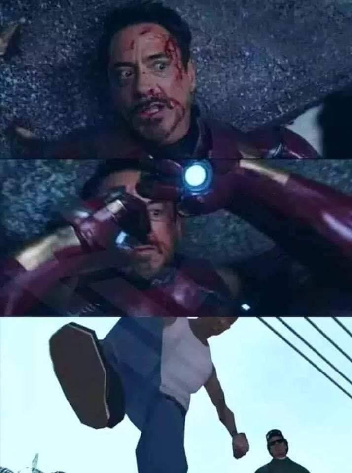 Cena do guerra Civil se eu não me engano, não é Spoiler - meme