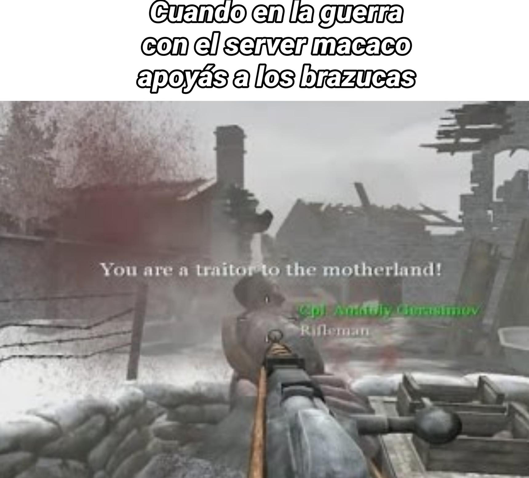 Traidor! :darkstare: - meme