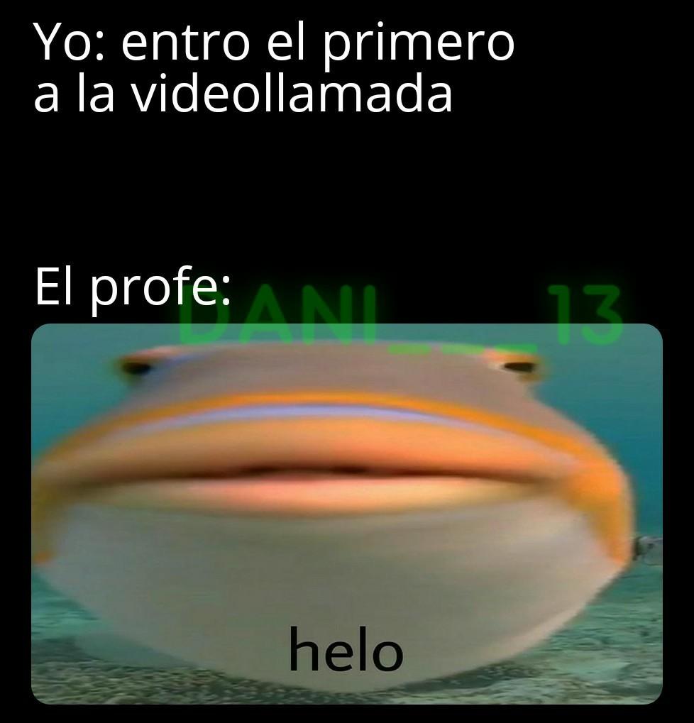 El título está en videollamada - meme