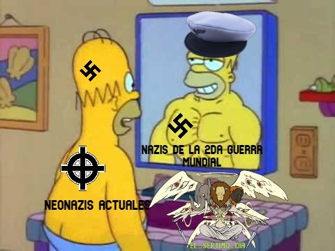 Si no me creen busquen una marcha neonazi, puro gordo XD - meme