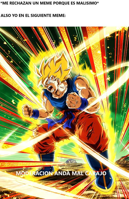 Goku enojado - meme