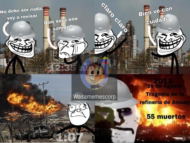 Recuerdo eso, fue en 2012 4 días apagando el fuego, fue horrible, pobres falconianos - meme