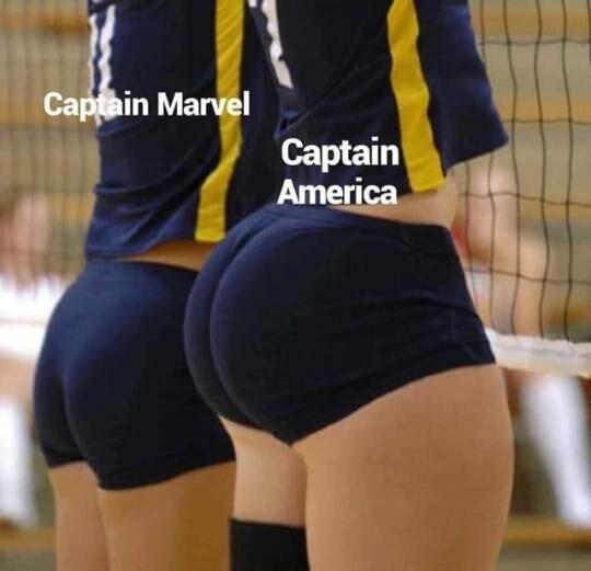 Capitana Marver vs capitan America - meme