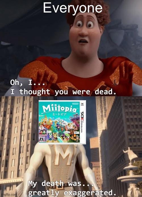 Miitopia on the Nintendo switch in a nutshell - meme