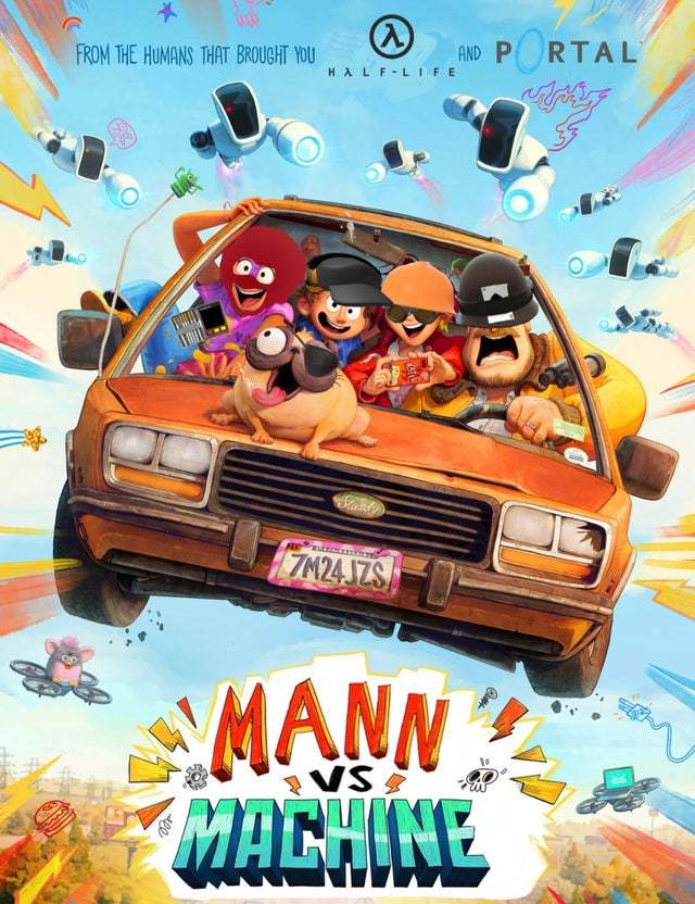 Mann vs machine - meme