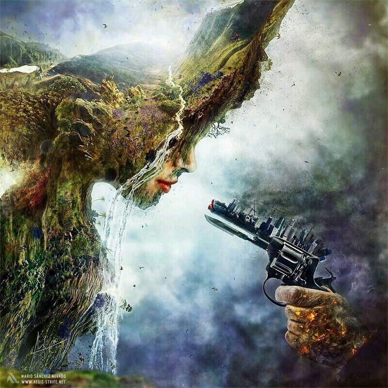 Man vs. Nature - meme