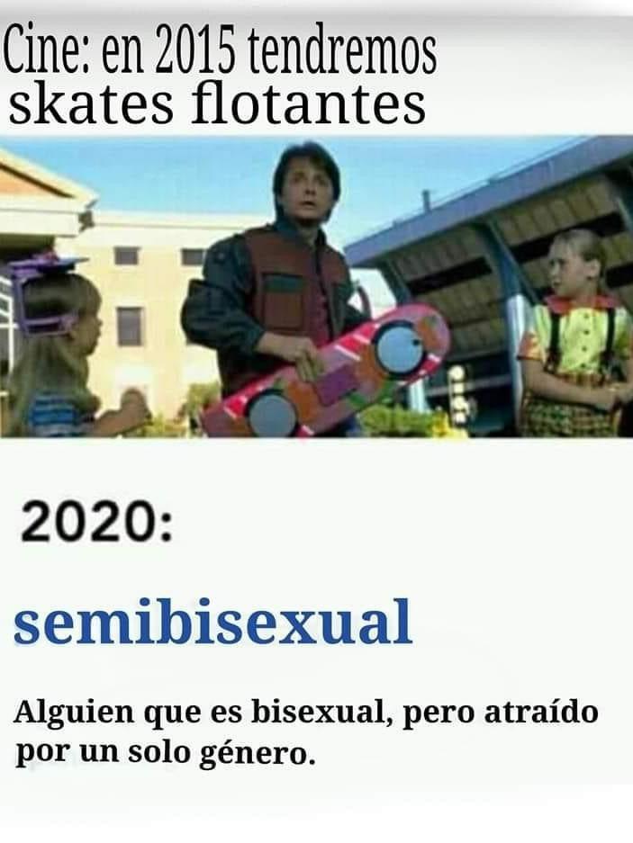 El título es semi bisexual - meme