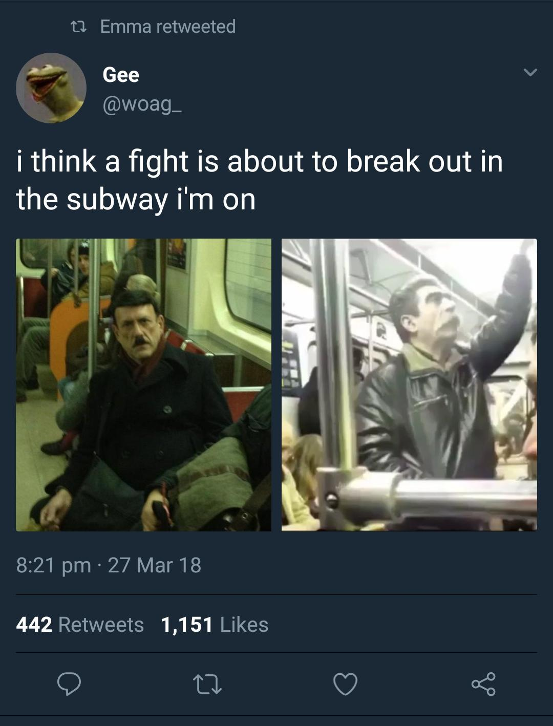 Subway to 1939 - meme