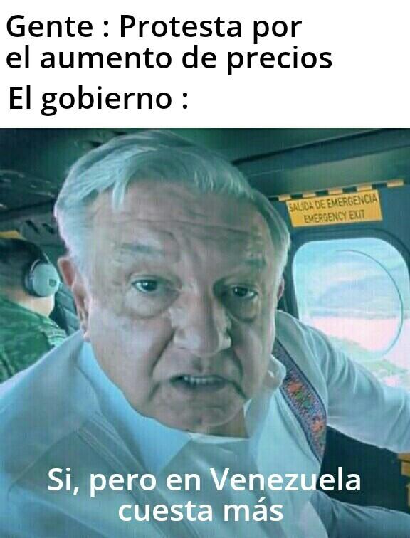 Sin importar lo mal que este tu país, Venezuela está peor según ellos - meme