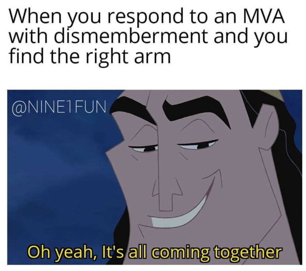 The right hands connected to the wrist, the wrists connected to the........well shit - meme