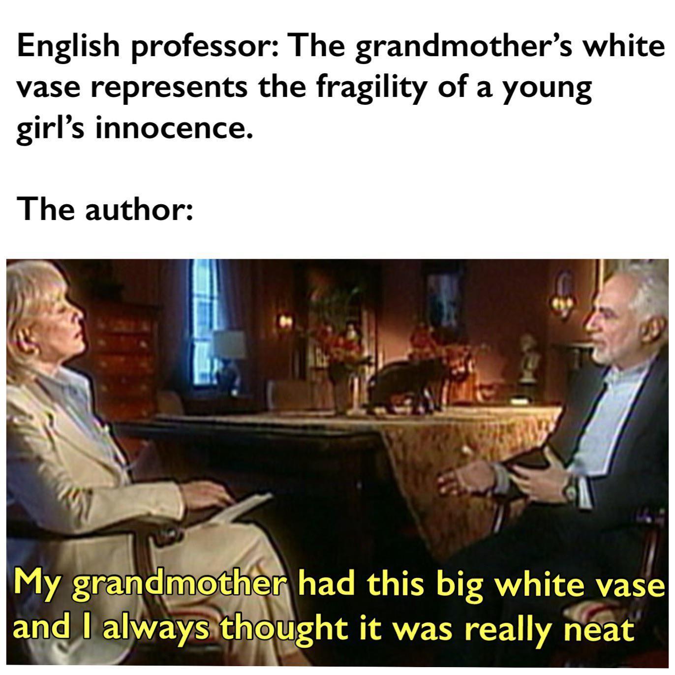 F*** u English teachers - meme