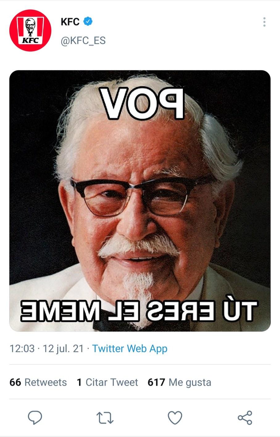 ¡Un nuevo tipo de POV!  (Y la prueva de que KFC le save al POV) - meme