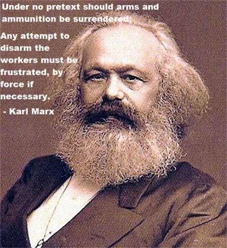 Marxist aren't supposed to be anti gun - meme