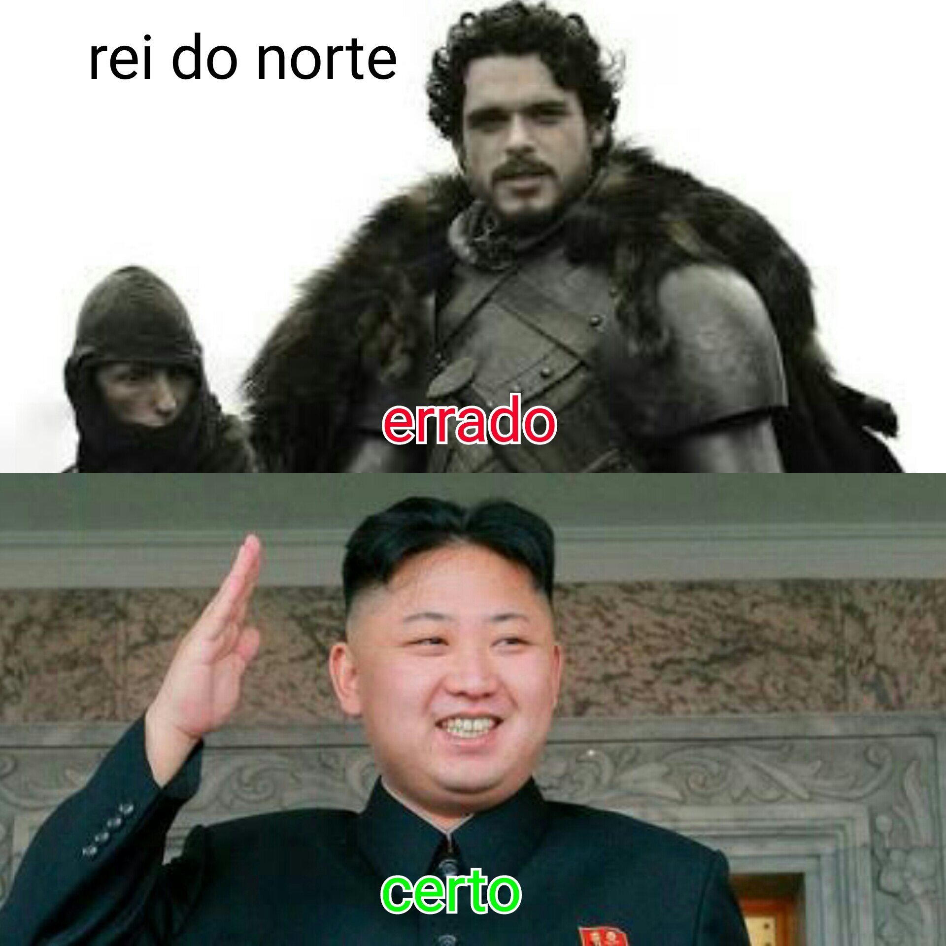 The king of the north - meme