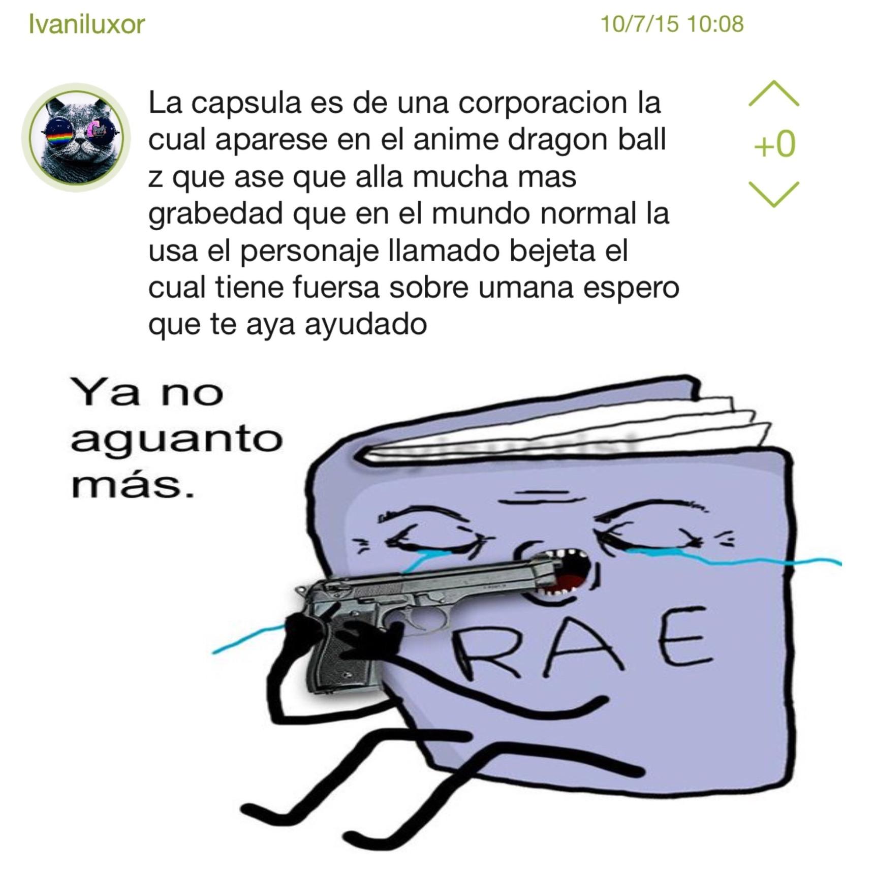 pobre RAE - meme
