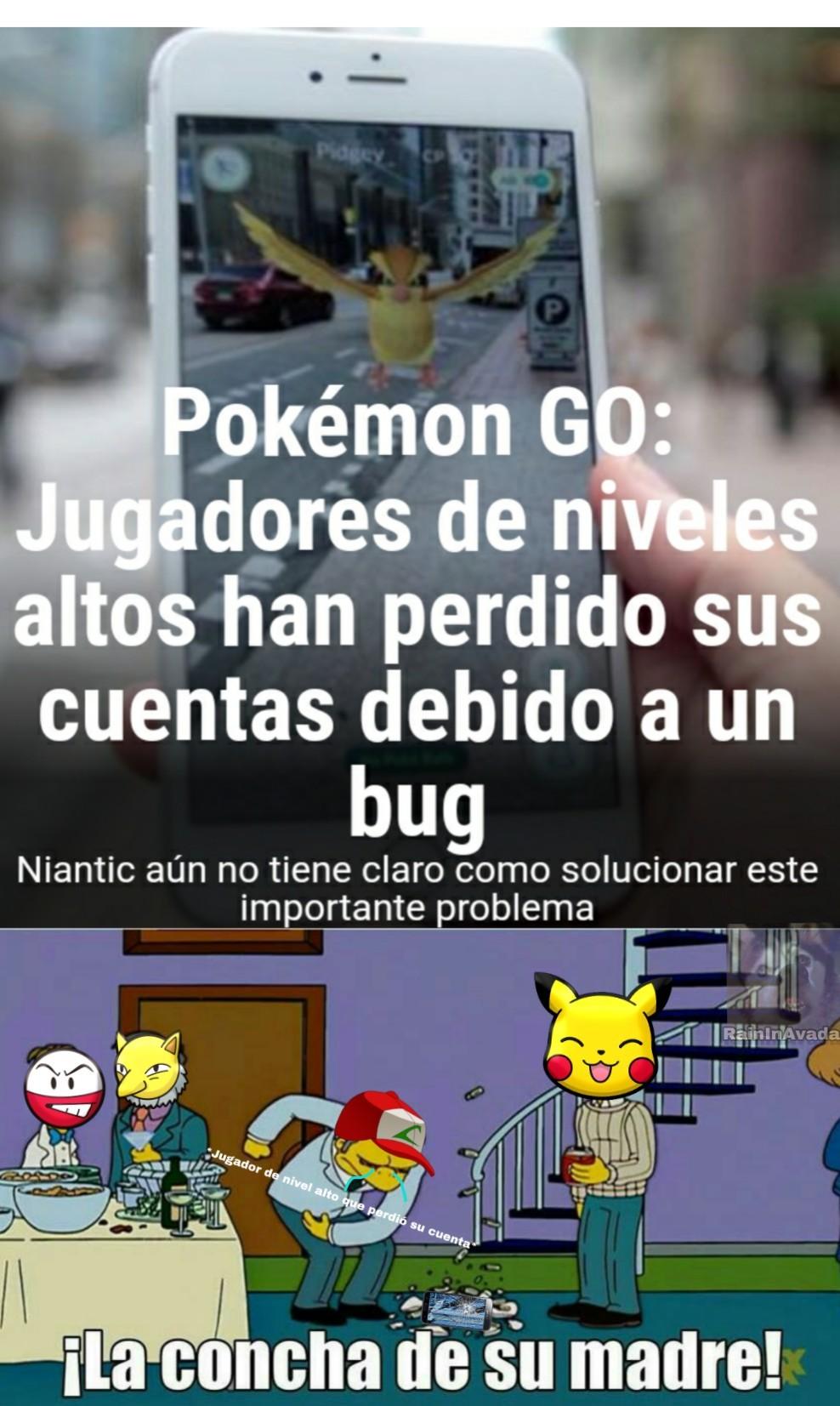 Se que Pokemon Go pasó de moda pero acepten - meme