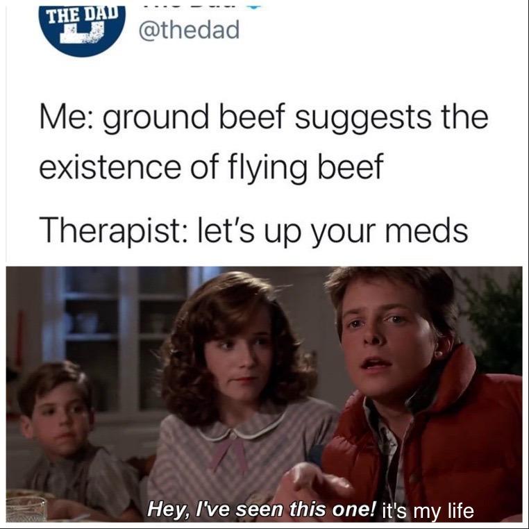 My reaction as a mental health patient - meme