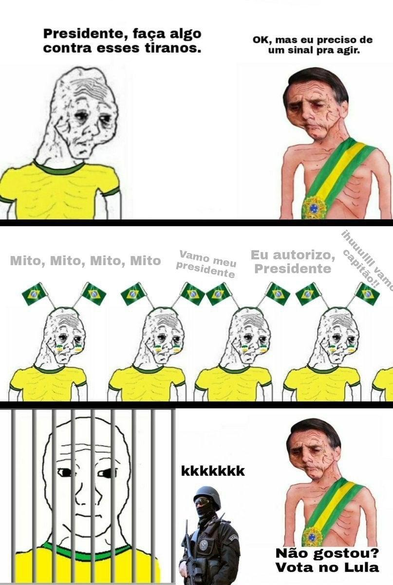 Bolsonaro com o cidadão de bem - meme