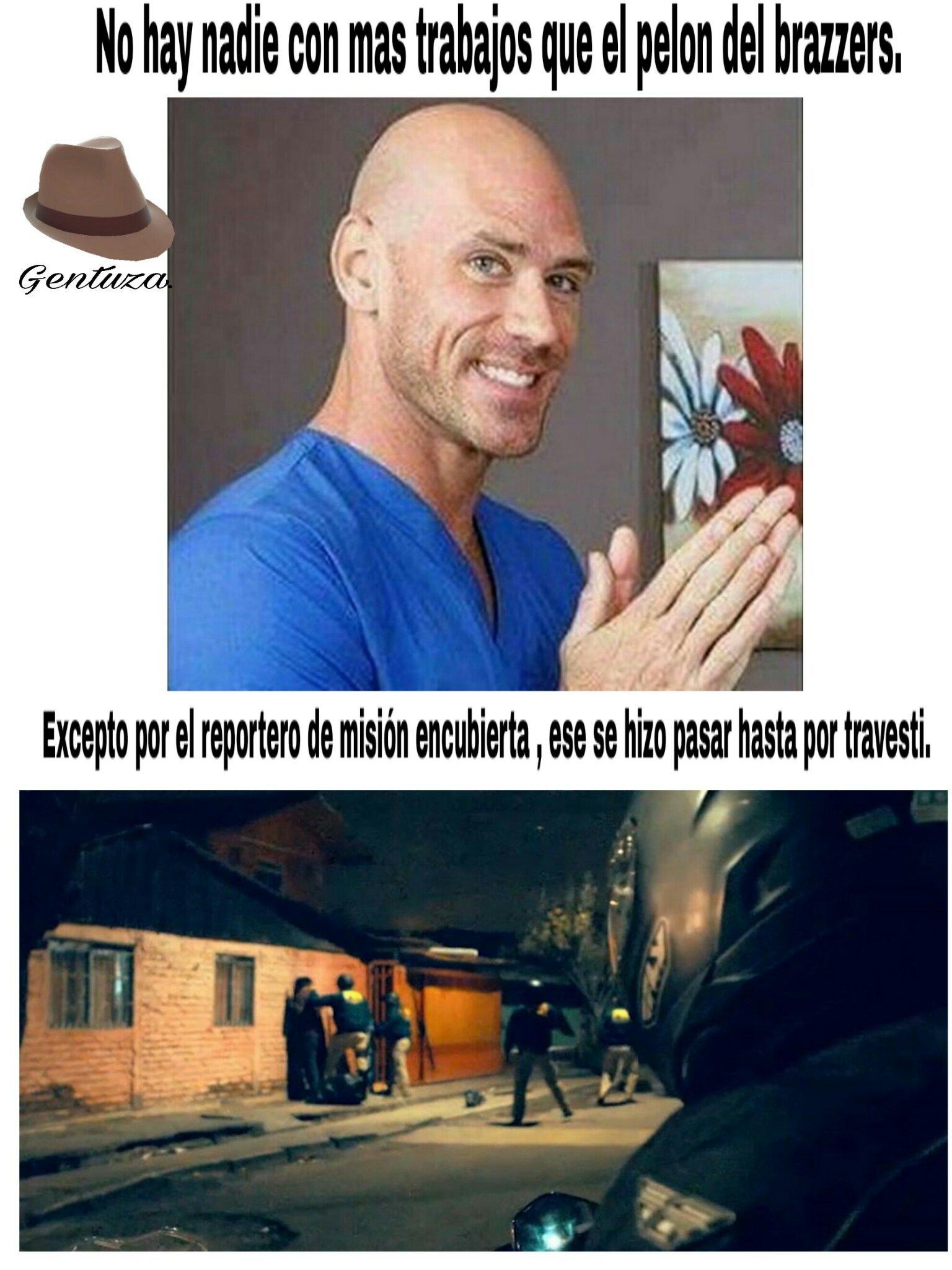 Es un reportero de la tv chilena - meme