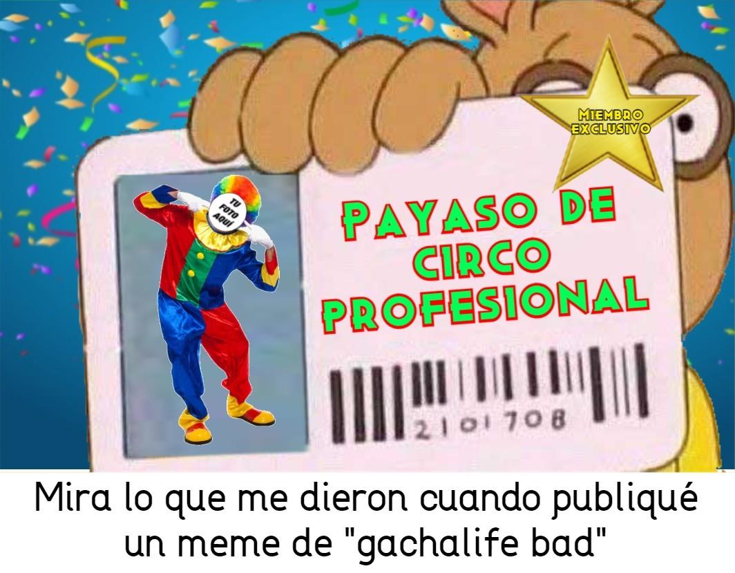 Bonita tarjeta autor - meme