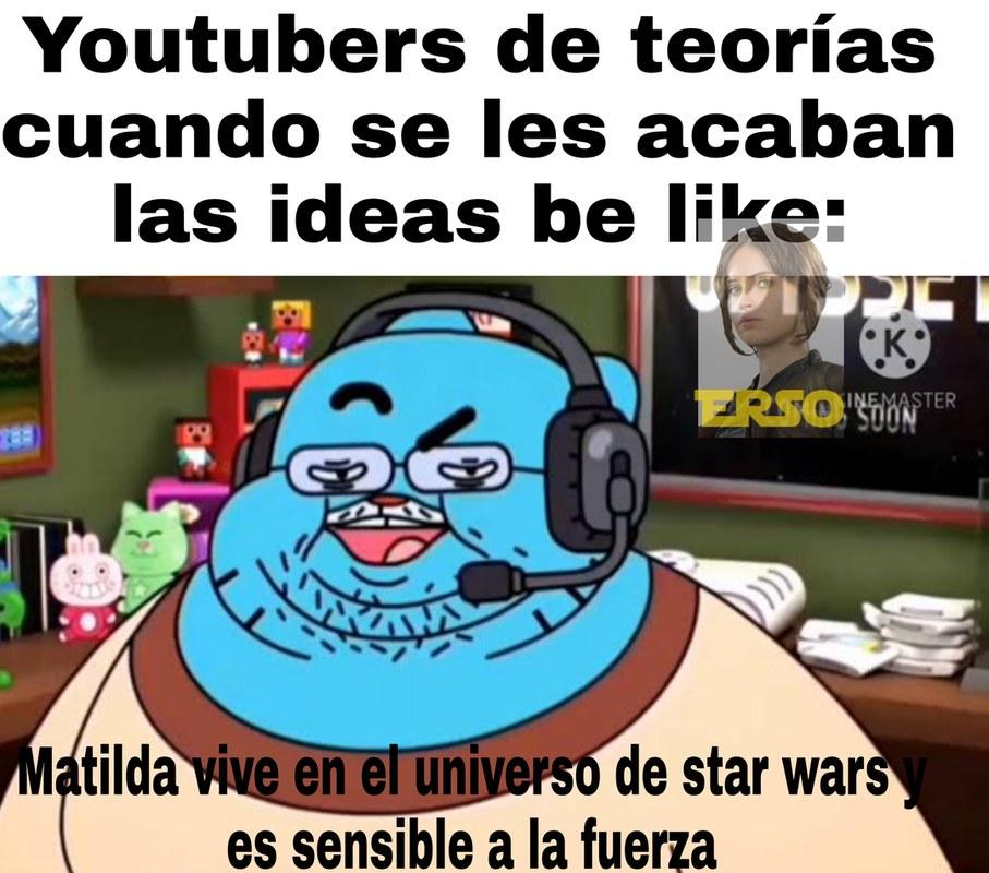 Segundo meme con temática de star wars