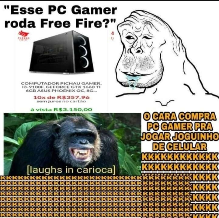 Risada em carioca - meme