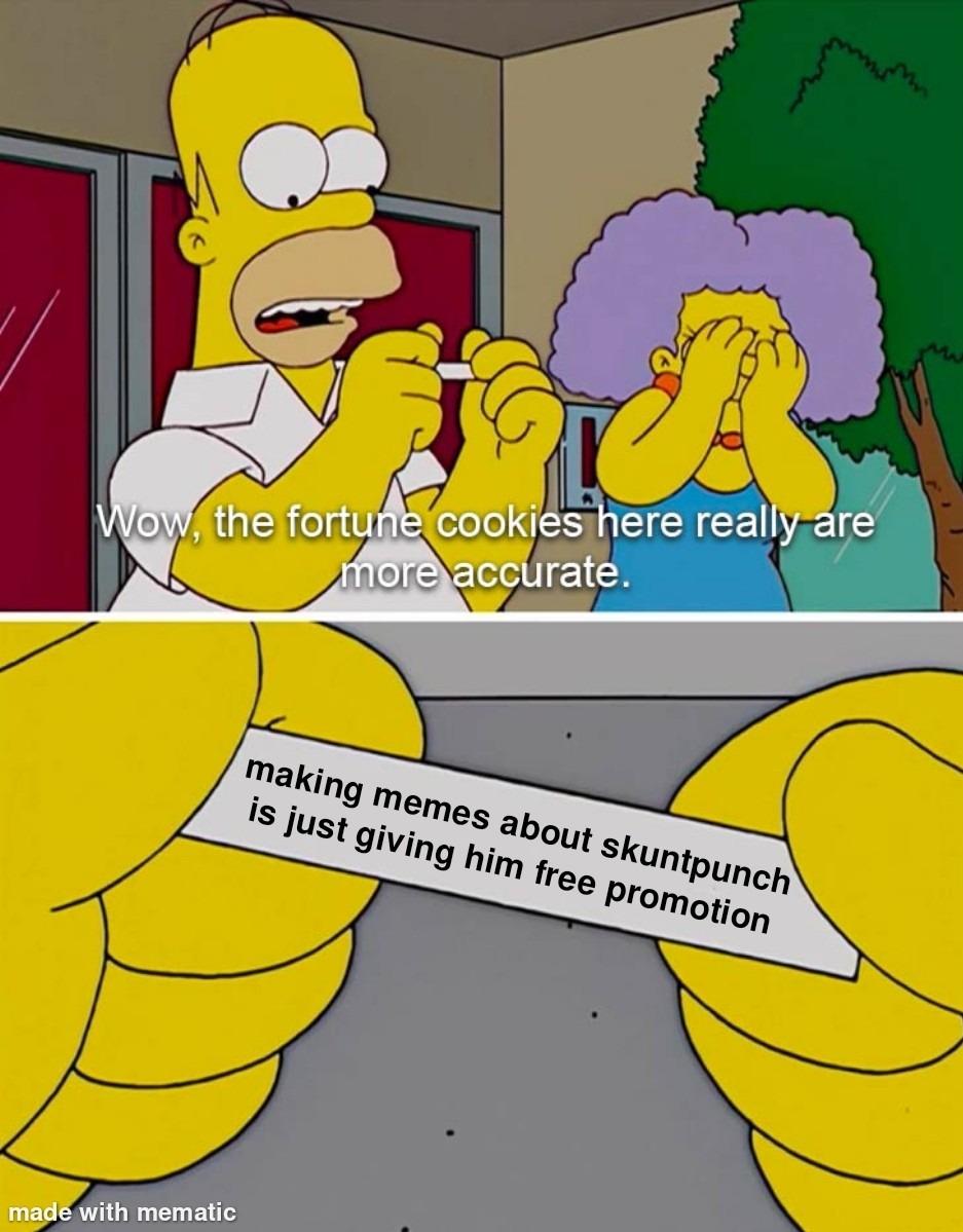 I'm tired of skuntpunch memes