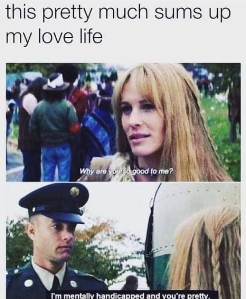 Jenny didn't deserve him - meme