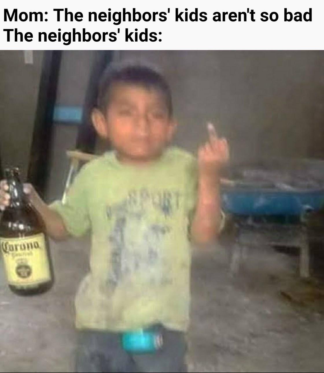 The neighbors' kids - meme