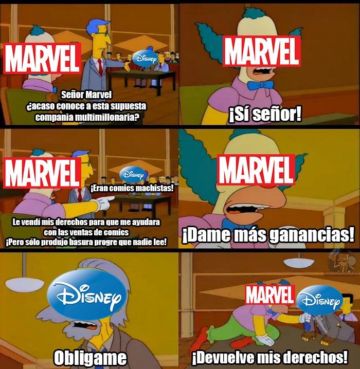 Lo único bueno que hace Disney con Marvel son las películas... oh, esperen ya ni eso -_- - meme