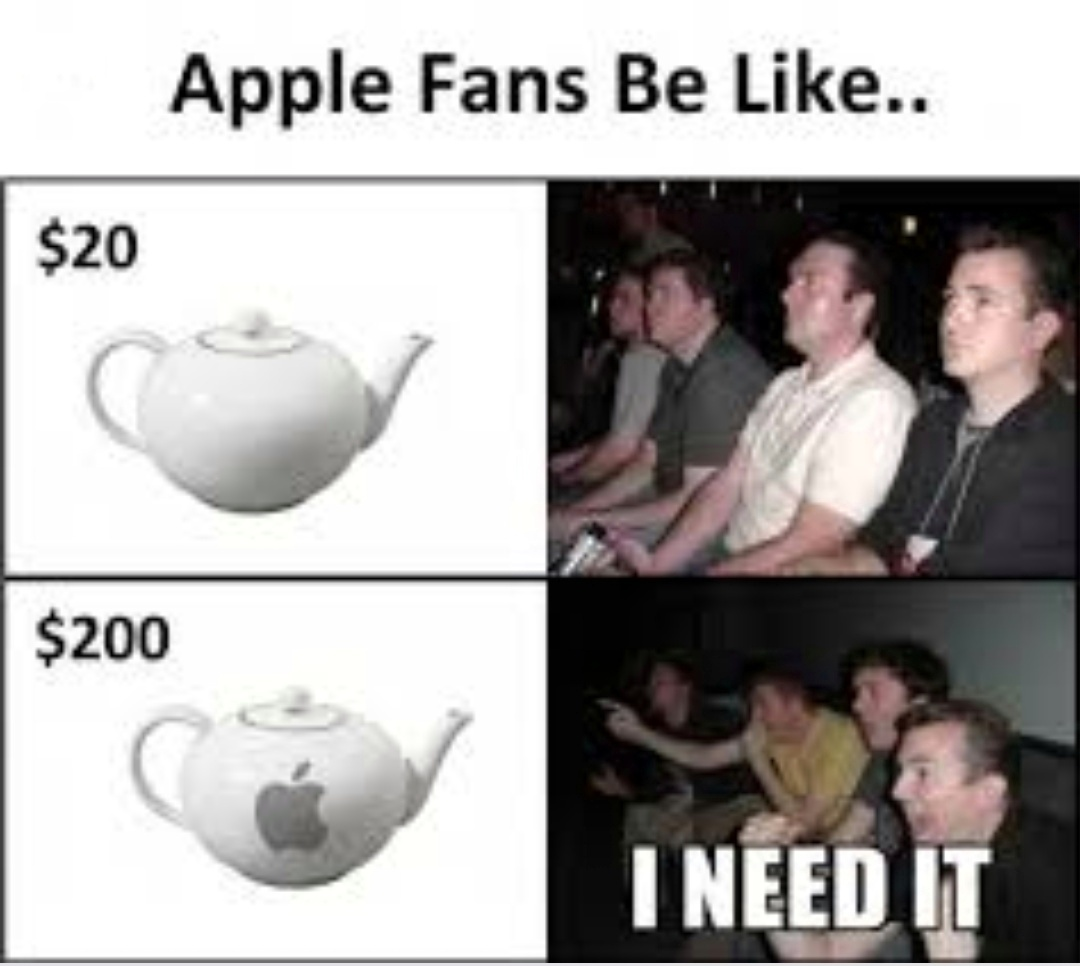 Apple logo = yes - meme