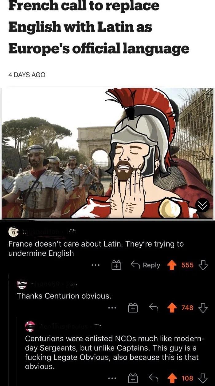 Legate Historicus - meme