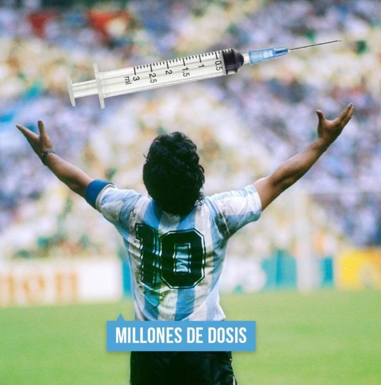 Maradona el D10S - meme