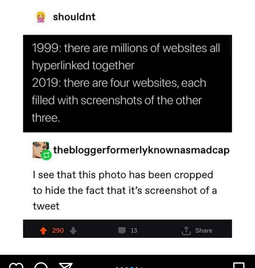 The world is just a bunch of screenshits - meme
