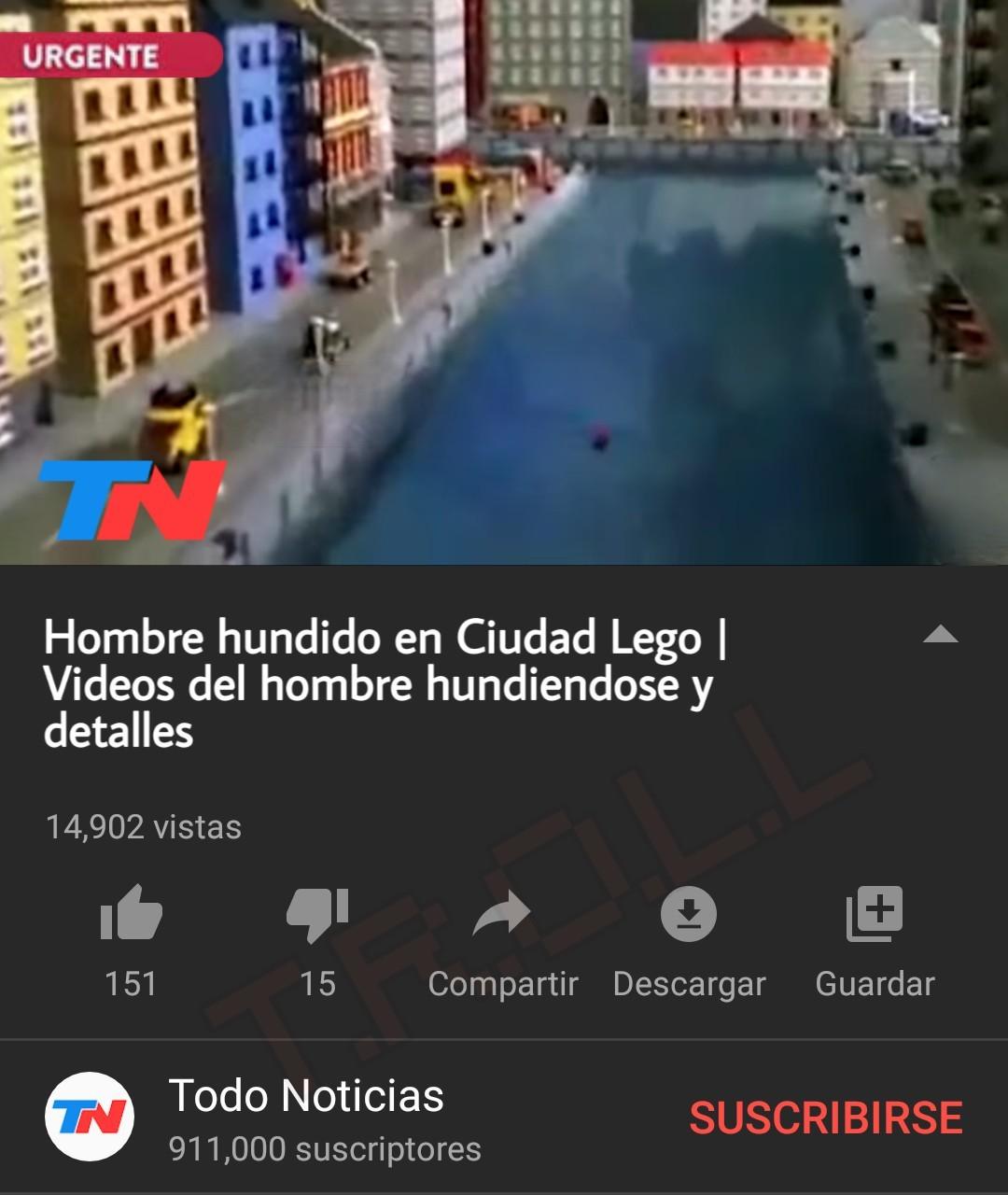 A MAN HAS FALLEN INTO THE RIVEN IN LEGO CITY - meme