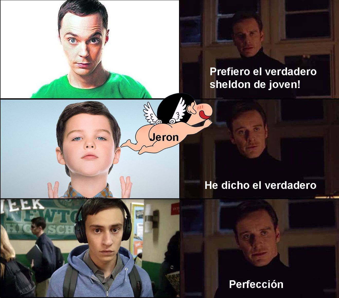 El protagonista de Atípico Sam hace de mejor Sheldon que el protagonista de el joven Sheldon (Sheldon Cooper)... - meme